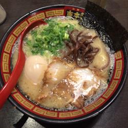 Bowl of ramen in Fukuoka, Japan