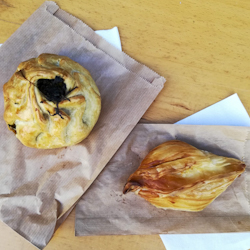 Two fried pastries in Valletta, Malta