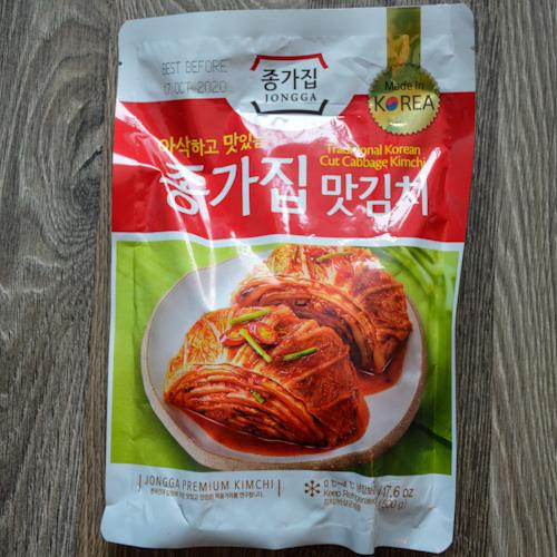 Bag of our favorite kimchi - Jongga brand