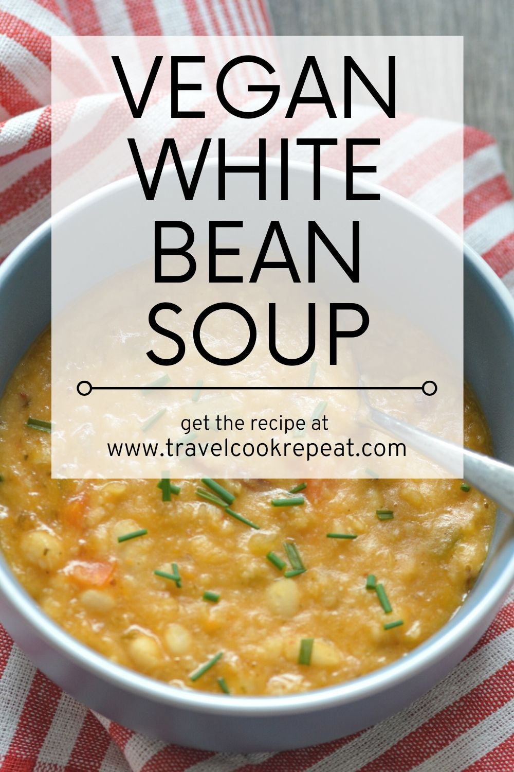 Vegan White Bean Soup with Chipotle
