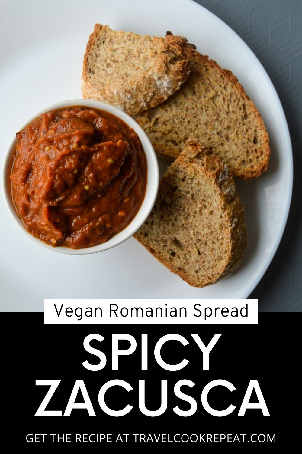 Spicy Zacusca - Romanian Vegetable Spread