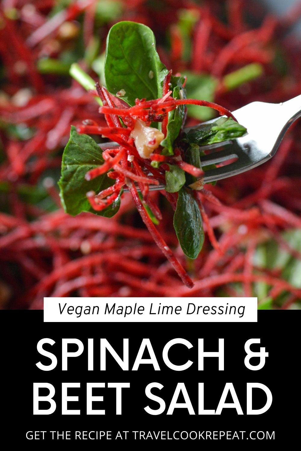 Beet Salad with Maple Lime Dressing