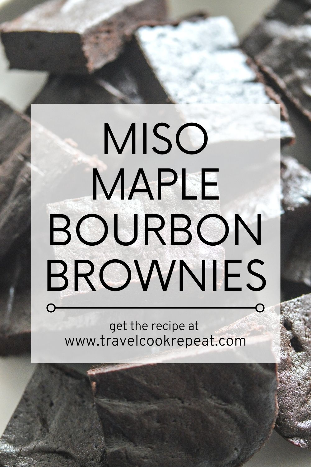 Bourbon Maple Brownies (with Miso)