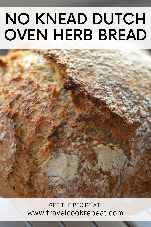 No-Knead Dutch Oven Herb Bread