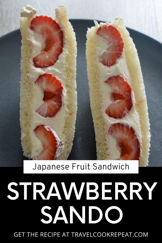 Strawberry Sando (Japanese Fruit Sandwich)